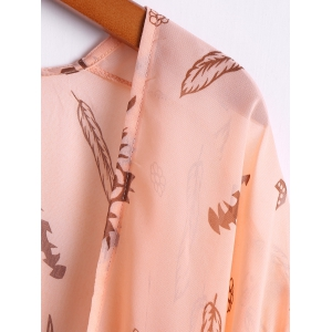Casual Style Collarless Wide Sleeve Cow Head Print Women's Blouse -