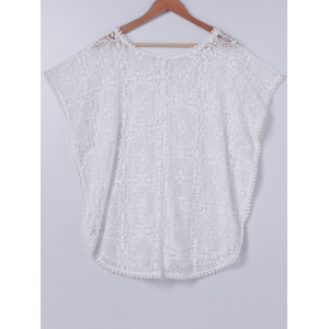 Stylish ScoopNeck Lace Cover Up For Women -