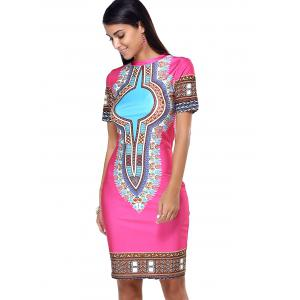 Ethnic Style Tribal Pattern Bodycon Dress -