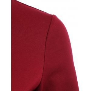OL Style 3/4 Sleeve Pure Color Bodycon Dress For Women -