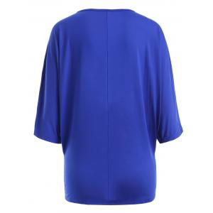 Sequin Embellished Loose Top - SAPPHIRE BLUE 2XL