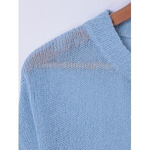 Casual Ombre ScoopNeck Long Sleeves Sweater For Women -