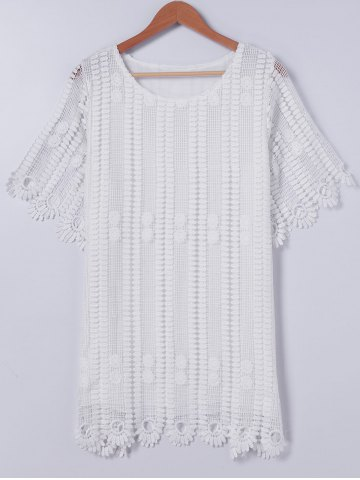 Chic Elegant Cutwork Lace Overlay Dress For Women