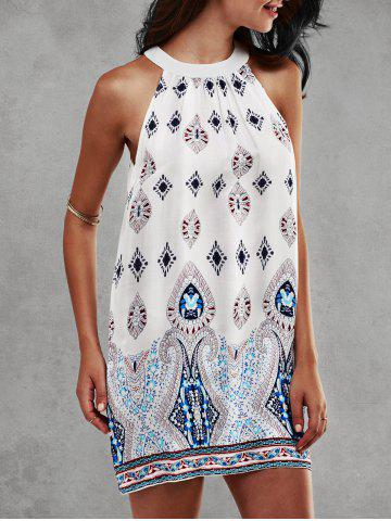 Outfit Ethnic Print Sleeveless Dress
