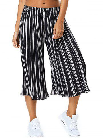 New Pinstriped Pleated High Wide Leg Pants