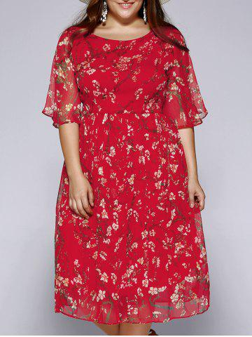 Shop Plus Size Sweet Wintersweet Print Dress