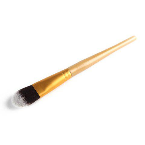 Stylish Soft Nylon Foundation Brush - Golden