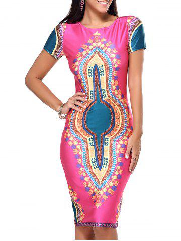 Store Exotic Tribal Pattern Bodycon Dress