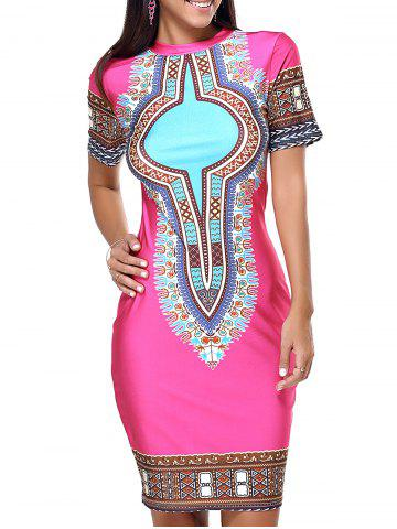 Buy Ethnic Style Tribal Pattern Bodycon Dress