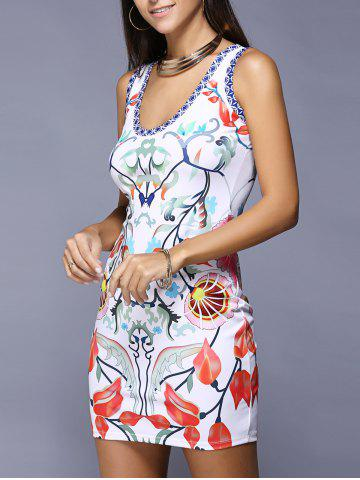 Affordable Colorful Printed Bodycon Mini Dress