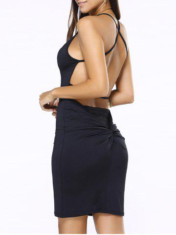 Affordable Cross Open Back Short Tight Club Dress