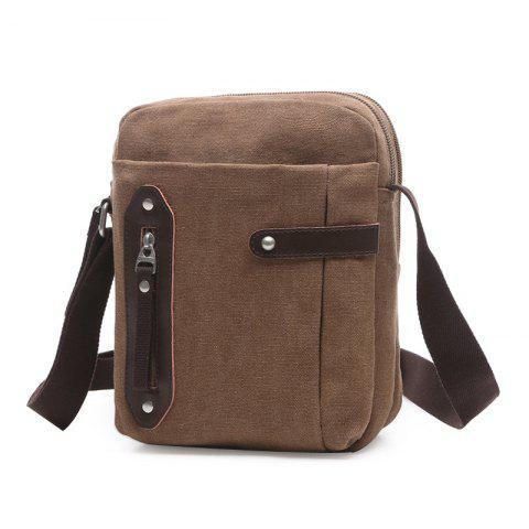 Fashion Leisure Zippers and Canvas Design Messenger Bag For Men