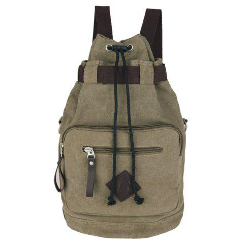 Discount Leisure Drawstring and Zippers Design Backpack For Men