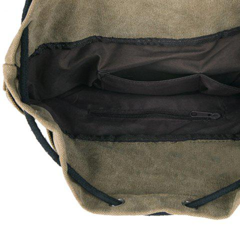 Outfit Leisure Drawstring and Zippers Design Backpack For Men - BLACK  Mobile