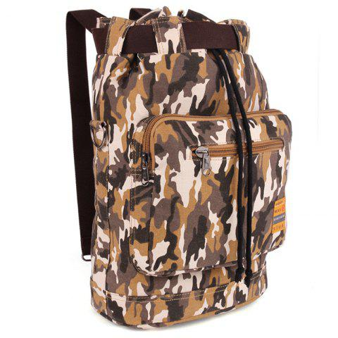 Hot Casual Canvas and Camouflage Pattern Design Backpack For Men