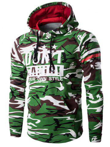 Shops Hooded Camouflage Pattern Long Sleeve Hoodie For Men