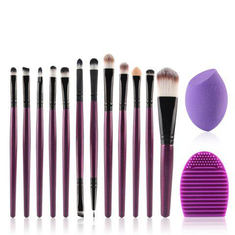 Trendy Stylish 12 Pcs Nylon Face Eye Lip Makeup Brushes Set + Beauty Blender + Brush Egg
