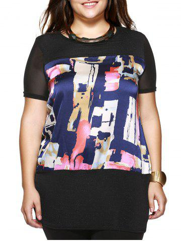 Best Plus Size Brief Colorful Printed Long Blouse