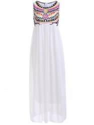 Bohemian Rhinestone Chiffon Casual Summer Maxi Dress
