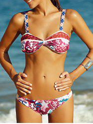 Women's Alluring Full Print Bikini Set