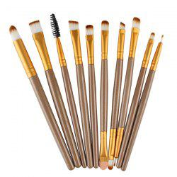 Stylish 10 Pcs Multifunction Nylon Eye Makeup Brushes Set
