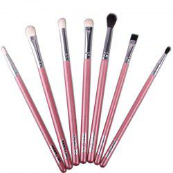 Stylish 7 Pcs Multifunction Soft Horse Hair Eye Makeup Brushes Set