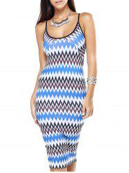 Chevron Pattern Skinny Bodycon Dress