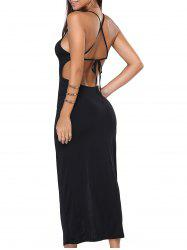 Crossback High Split Dress -