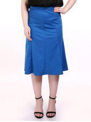 Plus Size Midi Mermaid Skirt -