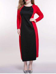 Plus Size Color Block Longline Dress