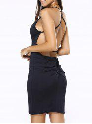 Criss Cross Low Back Slip Club Dress