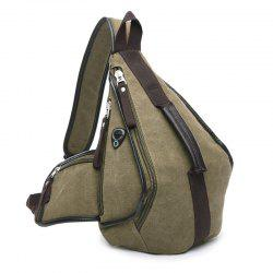 Casual Zippers and Color Splicing Design Messenger Bag For Men -