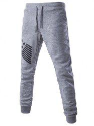 Lace-Up Stripes and Star Pattern Jogger Pants -