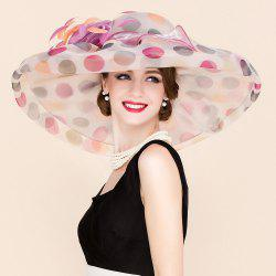 Big Polka Dot Wedding Party Church Big Floppy Sun Hat