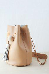 Tassel Wooden Bead Shoulder Bag