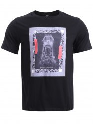 BoyNewYork Abstract Pattern Applique Short Sleeves T-Shirt -