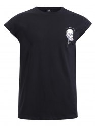 BoyNewYork Cool Skulls Printed Short Sleeves T-Shirt -
