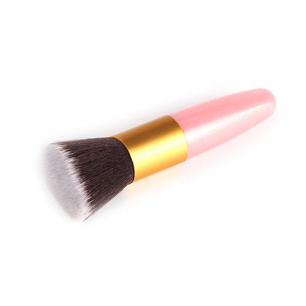 Stylish Bullet Shape Handle Nylon Flat Blush BrushBEAUTY<br><br>Color: PINK; Category: Blush Brush; Brush Hair Material: Nylon; Features: Hypoallergentic; Season: Fall,Spring,Summer,Winter; Weight: 0.040kg; Package Contents: 1 x Brush;