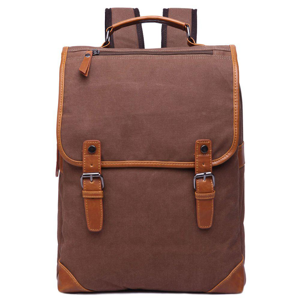 Online Stylish Color Block and Double Buckle Design Backpack For Men