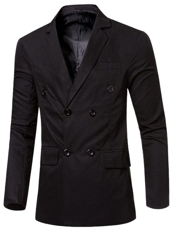Outfit Casual Lapel Collar Double Breasted Flap-Pocket Design Blazer For Men