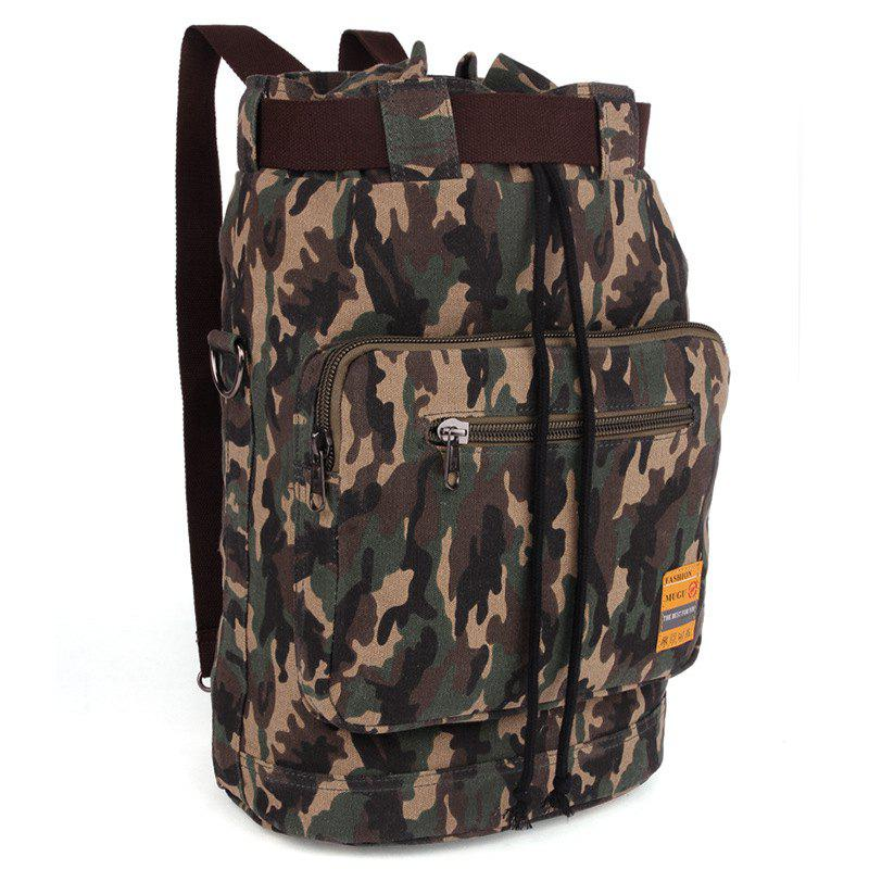 Best Casual Canvas and Camouflage Pattern Design Backpack For Men