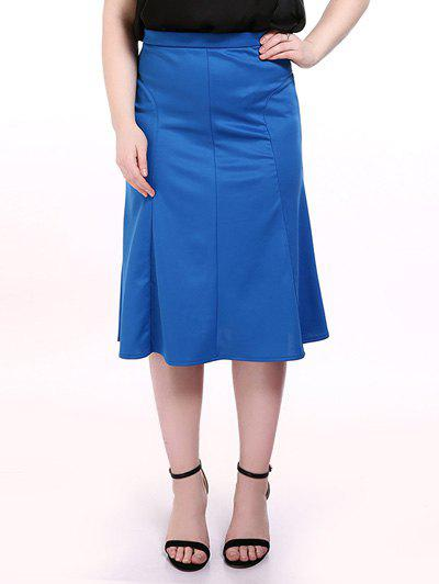 Trendy Plus Size Midi Mermaid Skirt