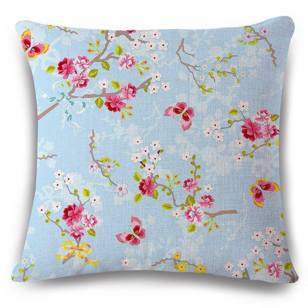 Flax Flowerlet Butterfly Insect Pattern Pillow Case 189621301