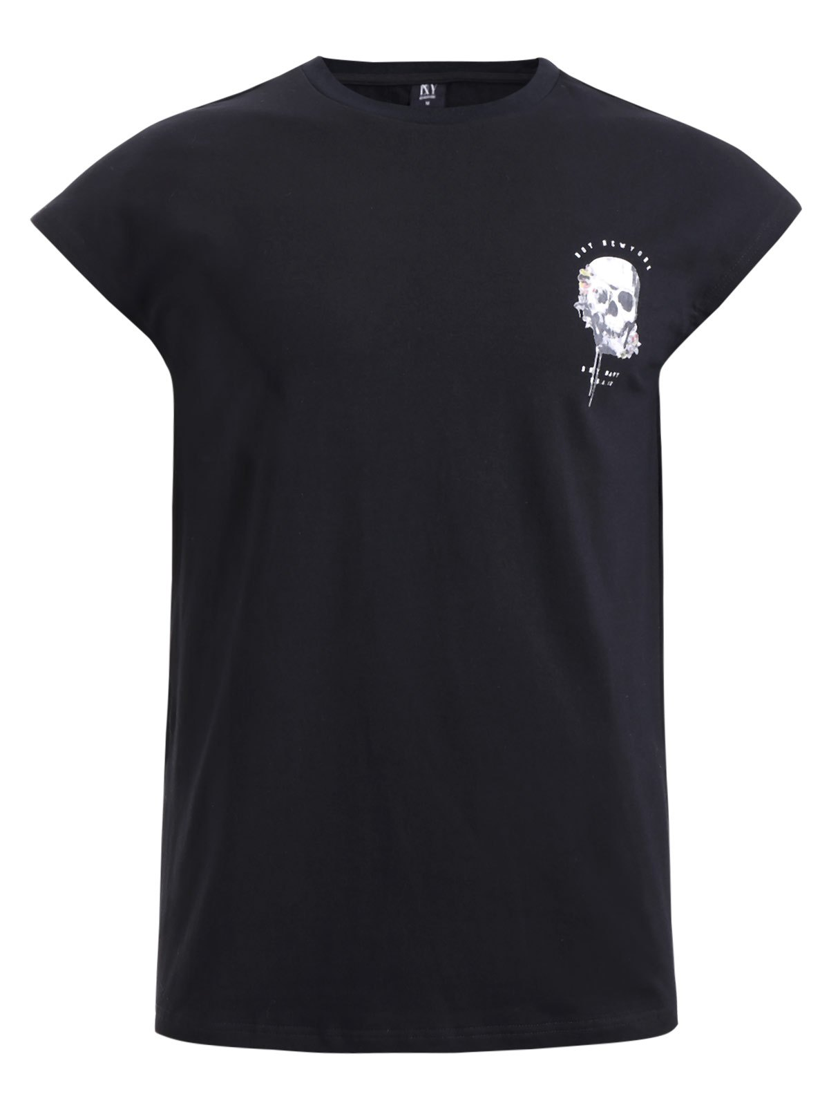 Outfit BoyNewYork Cool Skulls Printed Short Sleeves T-Shirt