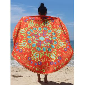 Circle Flower Pattern Beach Cape