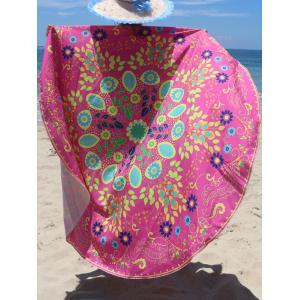 Circle Floral Pattern Beach Chiffon Cover Up