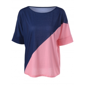 Casual Color Block Knitting Top For Women
