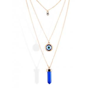 Rhinestone Bullet Eye Pendant Sweater Chains