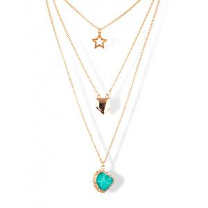 Charming Alloy Star Sweater Chains