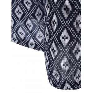 High Waisted Argyle Patterned Palazzo Pants - WHITE AND BLACK L